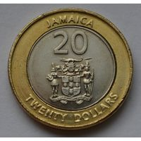 Ямайка 20 долларов, 2001 г.
