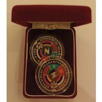 Футляр для 2 монет 45.00 mm бархатный красный