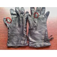 Перчатки кожаные женские утеплённые