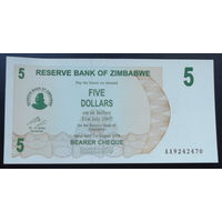 Зимбабве. 5 долларов 2006 [UNC]