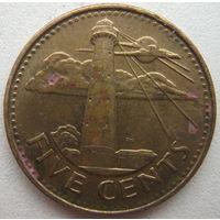 Барбадос 5 центов 2008 г. (g)