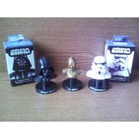 """Фигурки Sweet Box """"Звездные войны"""" (Star Wars): Тёмный Лорд Ситхов - Дарт Вейдер (Darth Vader), Штурмовик (Stormtrooper) и протокольный дройд С-3РО. (возможен обмен)"""