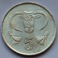 Кипр, 5 центов 2001 г