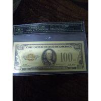 100 долларов в слабе