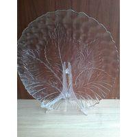 Блюдо из Прозрачного стекла - Размер 32 см.