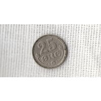 Дания 25 оре/ эре 1920 //(Ст)