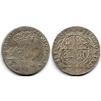 Орт 1754 ЕС, Август III, Лейпциг. Коллекционное состояние