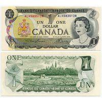 Канада. 1 доллар (образца 1973 года, P85b, Lawson-Bouey, aUNC)