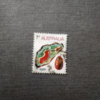 Марка Австралия 1973 год. Минералы