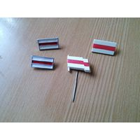 Бело-красно-белый флаг(Алюминий).