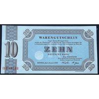 Германия. 10 марок 1958 [UNC]