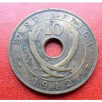 Британская Восточная Африка 10 центов 1942 года - из коллекции
