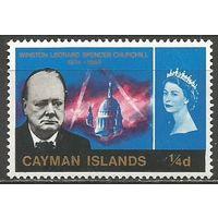Кайманы. Королева Елизавета II и У.Черчиль. Премьер-министр. 1968г. Mi#177..