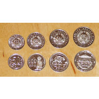 Узбекистан 2018 50,100,200,500 сом UNC компл. 4 монеты