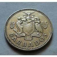25 центов, Барбадос 1980 г.