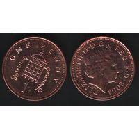 Великобритания _km986 1 пенни 2004 год (обращ) km986 магнит (h01)