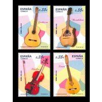 2011 Испания 4579-4582 Струнные музыкальные инструменты ** (И)