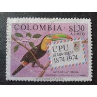 Колумбия 1974 100 лет ВПС, птица