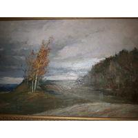 Старый осенний пейзаж с рубля