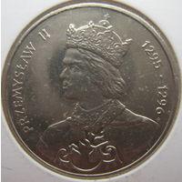 Польша 100 злотых 1985 г. Польские правители. Король Пшемыслав II. В холдере