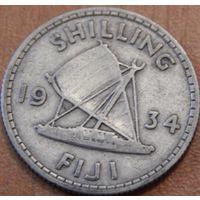 13. Фиджи 1 шиллинг 1934 год, серебро*