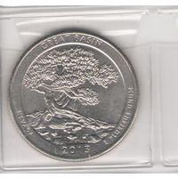 25 центов 2013 г. Национальный парк Грейт-Бейсин, штат Невада, США. Возможен обмен