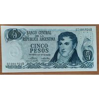 5 песо 1976-78 - Аргентина - UNC