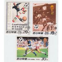 Корея серия из 3 марок 1988 Чемпионат мира по футболу, Италия-90
