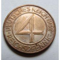 Германия 4 рейхспфеннига 1932 г