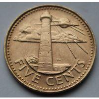 Барбадос, 5 центов 2005 г.