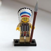 Lego минифигурка Вождь индейцев
