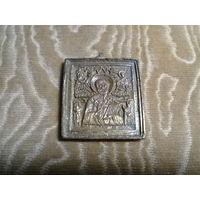 Икона Николая Чудотворца 19 век, остатки золочения