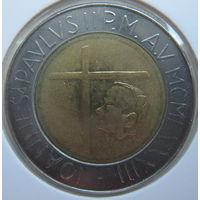 Ватикан 500 лир 1983 г. В холдере (gk)