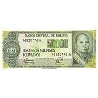 Боливия 50000 песо 1984 UNC