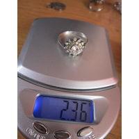 Кольцо 18 р. 925 Вес 2.36 гр.