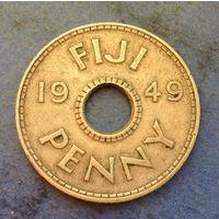 Фиджи Британская колония 1 пенни 1949
