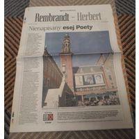 Газета на польском языке о Збигневе Герберте