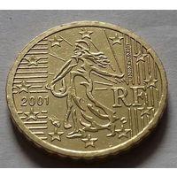 10 евроцентов, Франция 2001 г.