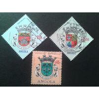 Ангола, колония Португалии 1963 гербы