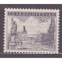 Чехословакия 1953 818 а  Карлов мост ЧЁРНОСЕРАЯ, ** (МАЙ