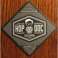 """Подставка под пиво """"Hop Doc Pub"""" /Литва/"""