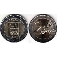 Мальта, 2 евро 2018 года,  Культурное наследие