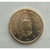 50 евроцентов 2018 года Сан-Марино