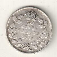 Канада 10 цент 1919