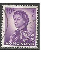 Гонконг. Королева Елизавета II в униформе. 1962г. Mi#197.