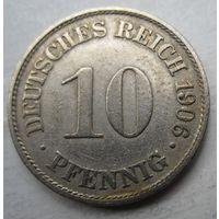 Германия. 10 пфеннигов 1906 A 69