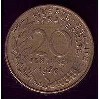 20 сантимов 1969 год Франция
