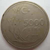 Турция 5000 лир 1994 г. (g)