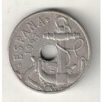 Испания 50 сентимо 1963