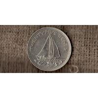 Багамские острова /багамы/ 25 центов 2000 /Корабль /(С)
